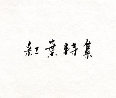 Yahoo 「紅葉特集2014」タイトル文字